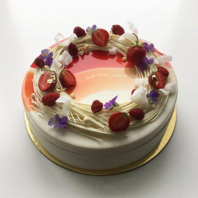 муссовый торт зеркальная глазурь 4