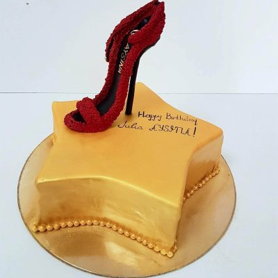 торт туфелька красная звезда