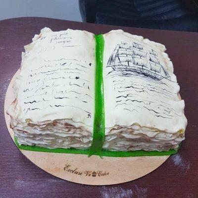 торт открытая книга