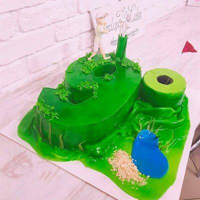 торт гольф клюшка