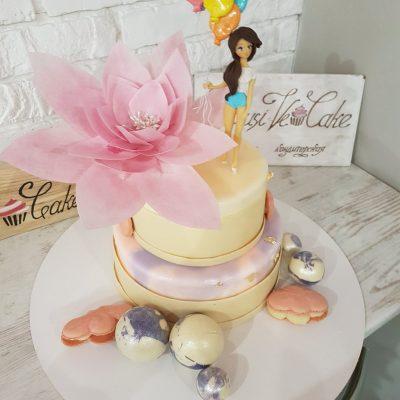 торт лилии жемчужины - Exclusive Cake