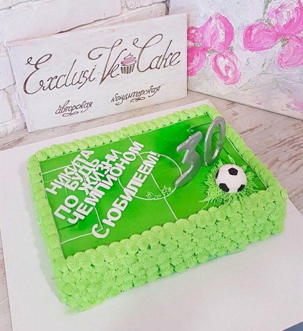 Торт Футбольное поле с мячом