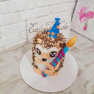 торт ежик свечка