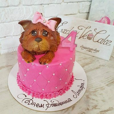 торт с собакой