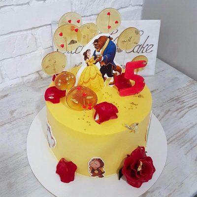 торт красавица и чудовище
