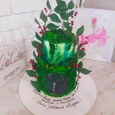 торт сказочный лес с оленем