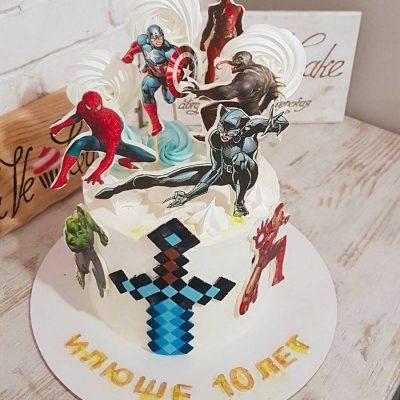 торт супергерои марвел