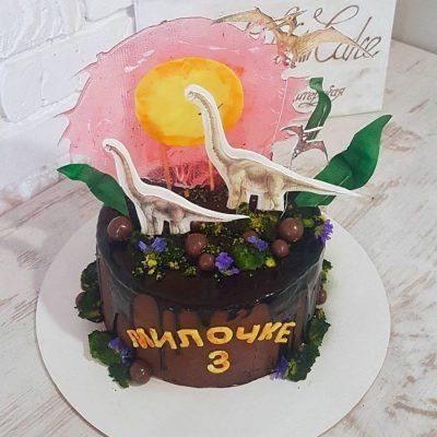 Торт Динозавр Брахиозавр