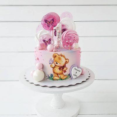 Торт девочке с мишкой